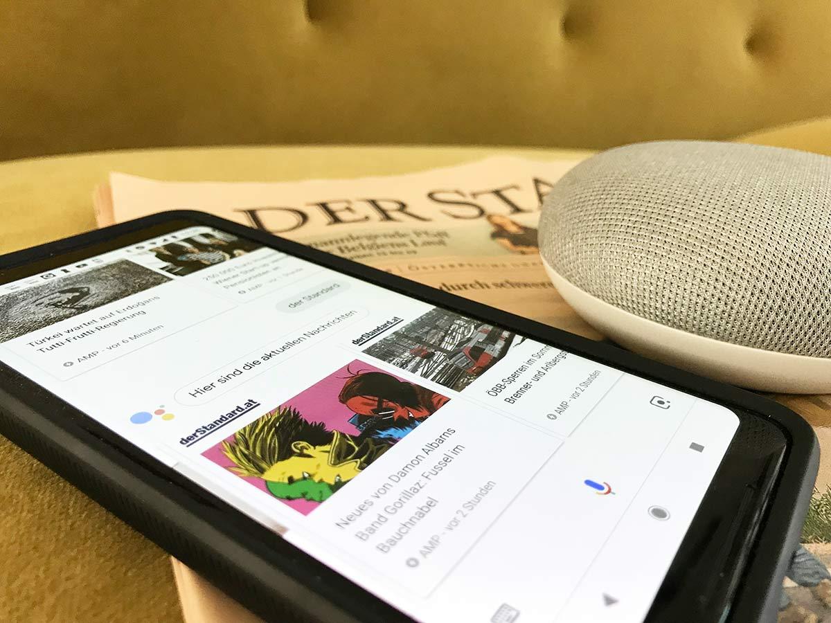 google home und google assistant für derstandard.at